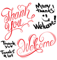 thank you welcome 380 vector image