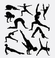 Pilates female sport silhouette vector image