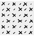 Minimal monochrome hand drawn pattern cross vector image