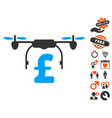 drone pound business icon with love bonus vector image