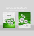 Green brochure vector image vector image