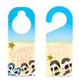 The Beach Summer Vacation Concept Door Hanger vector image