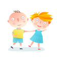 boy and girl dancing friends vector image