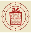 card gift merry christmas and new year design vector image