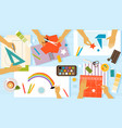 children creativity vector image