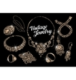 jewelry hand drawn bracelet rings pendant vector image
