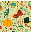 seamless pattern doodling autumn design vector image