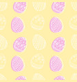 soft yellow and pink seamless pattern with easter vector image