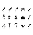 set of black Construction hand tool icon vector image