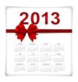 Simple 2013 year calendar vector image vector image