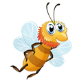 A bee smiling vector image vector image