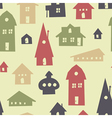 Different houses seamless vector image