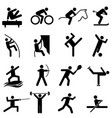 sports and athletics icons vector image vector image