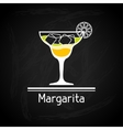 with glass of margarita for menu cover vector image