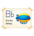 Alphabet B vector image