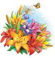 Arrangement of flowers vector image