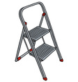Metal small stepladder vector image