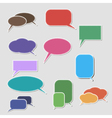 book speech bubble symbol set vector image