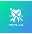 Dental logo emblem vector image
