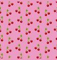 fruit cherry food harvest seamless pattern vector image