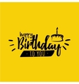 Happy Birthday label vector image