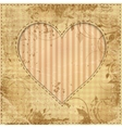 heart on old paper vector image