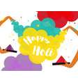 Poster design of traditional indian festival holi vector image