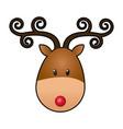 reindeer face manger animal cartoon image vector image