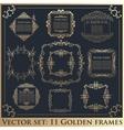 Set of Vintage calligraphic floral golden frames vector image
