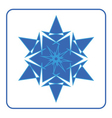 Snowflake icon Blue sign vector image