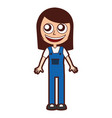 woman mechanic worker with overalls vector image