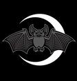 bat mascot vector image