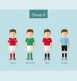 2018 soccer or football team uniform group a vector image
