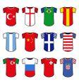 national soccer uniform vector image vector image
