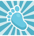 Baby Shower Foot Icon vector image vector image