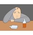 depressive person vector image