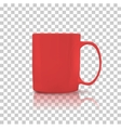 Set of Cup or Mug Red Color vector image