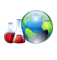 world and chemistry vector image vector image