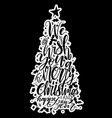 calligraphy lettering of christmas tree vector image