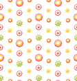 Colorful Shiny Seamless Pattern with Flowers vector image