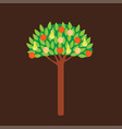 colorful summer fruit tree concept vector image