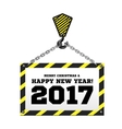 Congratulations to the New Year on the background vector image