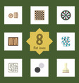flat icon play set of multiplayer dice chess vector image