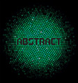 futuristic abstract background with green mosaic vector image