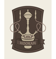 hookah sign vector image