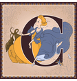 Letter C Cinderella by Charles Perrault vector image