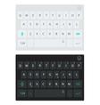 Modern smartphone keyboard alphabet buttons vector image