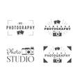 Retro Photography Badges Labels Monochrome vector image