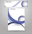 stylish layout corporate identity vector image
