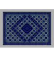 Carpet with ornament of blue shades vector image